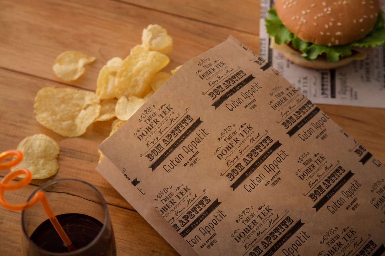 Printed Anti-Fat Paper Bags