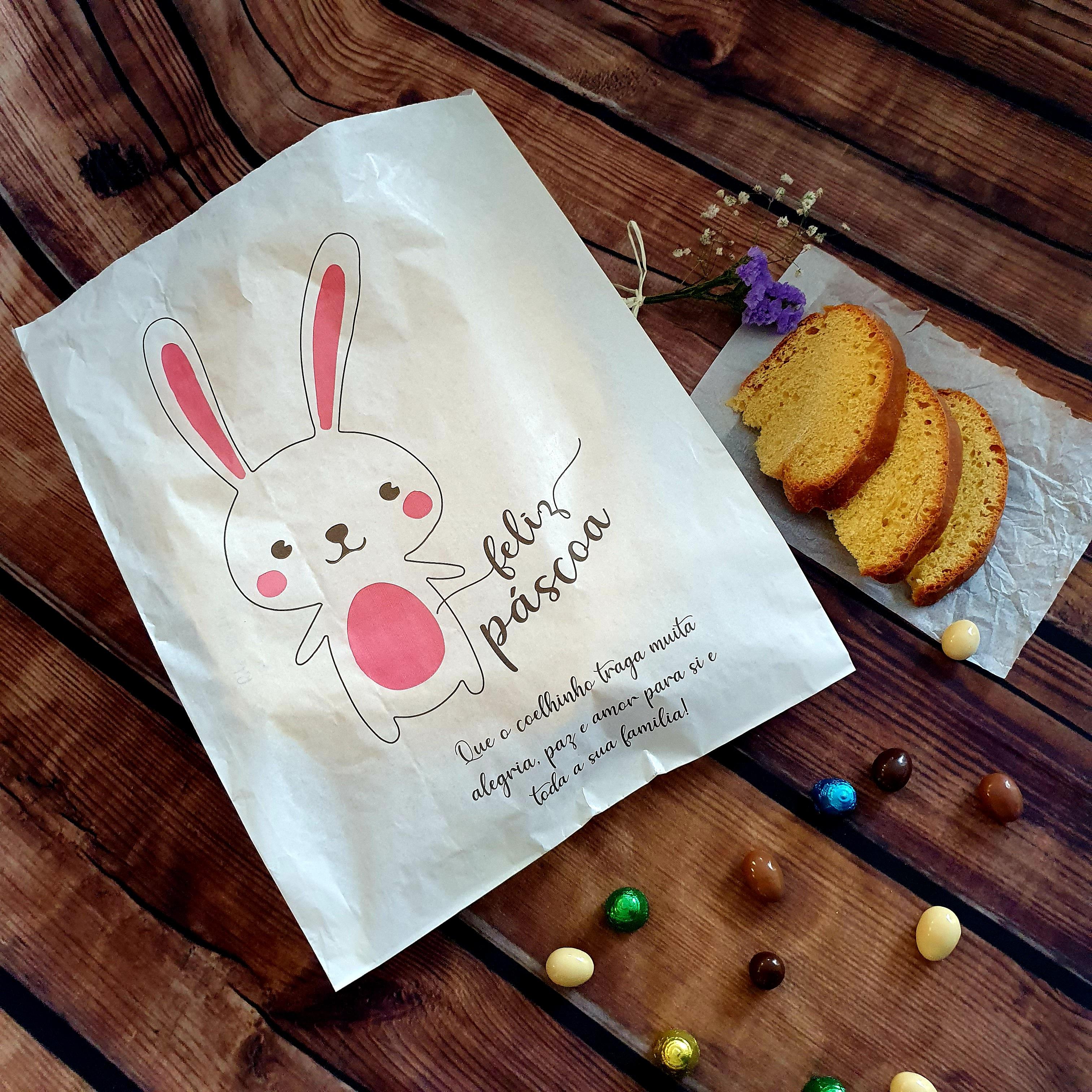 Já conhece o nosso saco Páscoa Feliz? É ideal para embrulhar o folar da Páscoa.